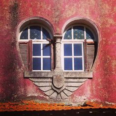 love doors and windows, portugal I Love Heart, My Heart, Yoga Studio Design, Heart Art, Windows And Doors, Exterior Windows, Church Windows, Architecture Details, Building Architecture
