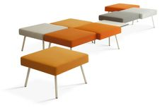 Hitch Mylius | hm101 benches with white-grey powder coated steel legs