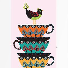 birds & tea - two things my sweet granny loved! this reminds me of her.