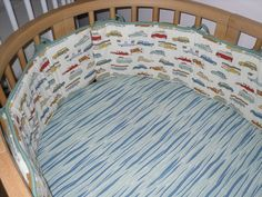 Crib Bumper Custom Made to fit Stokke Sleepi  with  Client's Fabric - Labor Only