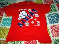Philadelphia 76ers 90s Team Hanes NBA Basketball shirt XL AUTHENTIC #Hanes #GraphicTee