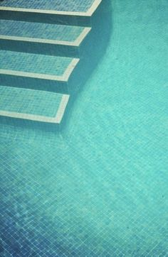 Tiffany aqua blue swimming pool. You can feel the freshness just by looking at it.