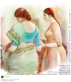 Indian Women Painting, Indian Art Paintings, Old Paintings, Sexy Painting, Painting Of Girl, Figure Painting, Indian Art Gallery, Cartoon Girl Drawing, Girl Sketch
