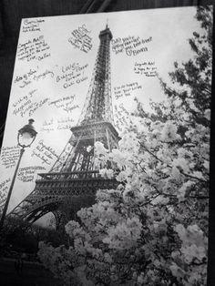 Write on canvas - Paris bridal shower