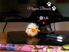 Laccetto trova USB, by magica briciola handmade, crochet, crochè, uncinetto, phone, cellulare, tecnologia, chick, fatto a mano, tenero, cute, technology