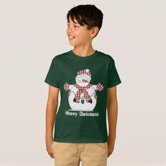 #Christmas decorating snowman kids add text t-shirt - #Xmas #ChristmasEve #Christmas #merry #xmas #family #holy #kids #gifts #holidays #Santa