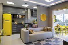 Inspiração de um interior usando padrão de Cores CMYK.
