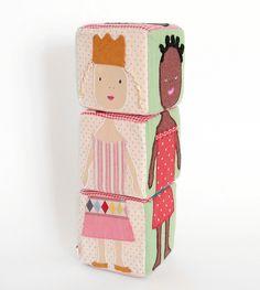 Maileg Soft Puzzle Blocks | Stacking Cubes | Plush Baby Toys - Brimful Toys
