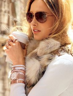 Coffee in hand, Glammed Up, Sparkle in my eye and a Smile on my face... yeap I'd said I am ready for the day...! Bring it on!!'