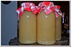 Le Ricette della Nonna: Succo di frutta alla pera Beverages, Pudding, Desserts, Food, Mint, Canning, Tailgate Desserts, Deserts, Custard Pudding