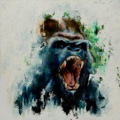 "Saatchi Online Artist Carlos Sanchez; Painting, ""Gorilla"" #art"