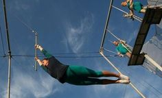 "Philadelphia Gets Ready to Soar with Outdoor Flying Trapeze Classes. Fly School Circus Arts returns to the Philadelphia International Festival of the Arts (PIFA) with ""Daringly High"" outdoor flying trapeze lessons and performances. Circus Activities, Circus Art, International Festival, April 27, March, Art Lessons, Philadelphia, Healthy Habits, Bucket"