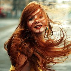 redhead turquoise life love passion