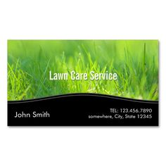 Stylish Spring Green Lawn Care Business Card. I love this design! It is available for customization or ready to buy as is. All you need is to add your business info to this template then place the order. It will ship within 24 hours. Just click the image to make your own!