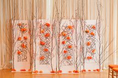Orange Wedding Inspiration   Fall Inspired Altar