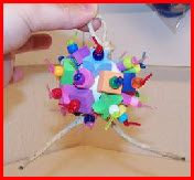 A great DIY for an activity ball meant for smaller birds. Can be adjusted for larger birds as well!