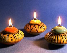 Check out our ceramic oil lamp selection for the very best in unique or custom, handmade pieces from our accent lamps shops. Ceramic Light, Ceramic Lamps, Amaco Glazes, Pottery Designs, Pottery Ideas, Lamp Inspiration, Oil Burners, Ceramics Projects, Clay Design