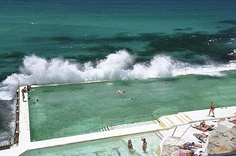 Bondi Beach! hottest hunks and scariest pool. *It's not fun when that happens when you're underwater.