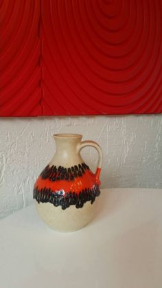 Fat lava vase Bay ceramic 1970s by Veryodd on Etsy