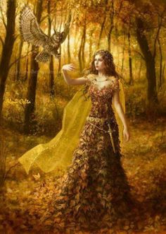 Lady Autumn was making her rounds again, for summer had completed its time ~ #story #inspiration #character