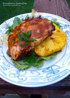 Grilled Honey Pineapple Teriyaki Chicken ~ Sumptuous Spoonfuls #chicken #recipe