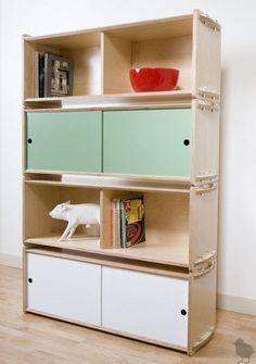 Key Modular Storage System by Housefish Modular Storage, Storage Shelves, Shelving, Book Shelves, Plywood Furniture, Kids Furniture, Modern Furniture, Cheap Furniture, Furniture Plans