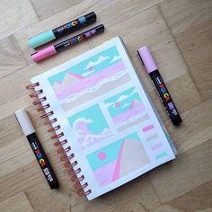 Paint Pens, Lyon, Landscape Paintings, Mini, Illustration, Instagram, Paint Sticks, Landscape, Illustrations