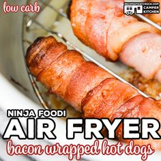 dog recipes Baking Soda is part of Traditional Irish Soda Bread And Spotted Dog Julias Simply - We love making these Air Fryer Bacon Wrapped Hot Dogs! This is a quick and easy low carb Ninja Foodi recipe that kids of all ages love! Asparagus Bacon, Asparagus Recipe, Fresh Asparagus, Hot Dog Casserole, Bacon Hot Dogs, Bacon Wrapped Sausages, Wrapped Hot Dogs, Making Hot Dogs, Hot Dog Recipes