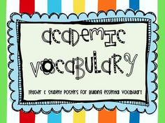 Academic Vocabulary Posters  from Its Elementary on TeachersNotebook.com -  (23 pages)