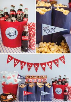 A baseball themed birthday party.