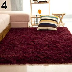 Fluffy Rugs Anti-Skid Shaggy Area Rug Dining80X120 Bedroom Carpet ...
