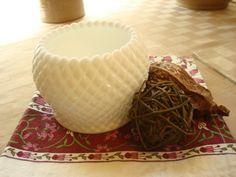 Vintage Westmoreland English Hobnail Milk Glass Rose Bowl