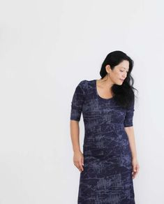 skippy dress in abstract indigo // sanae ishida