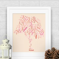 Absolutely Lovely!  Beautiful family tree art created with family names.  Created in minutes on new website...www.familytreeartogy.com