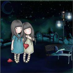 Risultati immagini per abecedario gorjuss Illustration Mignonne, Cute Illustration, Art Mignon, Illustrations, Heart Art, Cute Dolls, Pretty Pictures, Cute Art, Little Girls