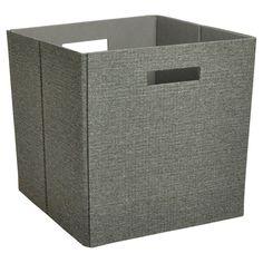 Fabric Cube Storage Bin 13 - Dark Gray - Threshold