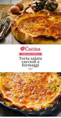 Torta salata con #carciofi e #formaggi
