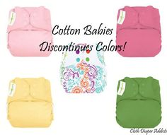 Are you a fan of BumGenius or Flip diapers? If you're missing a few colors now is the time to stock up. Cotton Babies has announced discontinued colors.