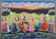 Krishna meets Radha painting by Rajendra Khanna | ArtZolo.com