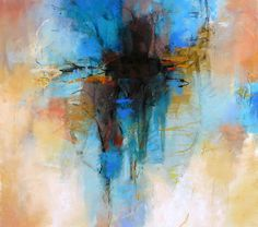 Turquoise Dream, pastel 13x14 inches Debora L. Stewart
