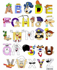 Breakfast Mascot Alphabet by Mike Boon