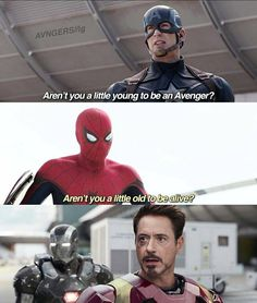 Tony: Young man, that's not what I taught you!!!