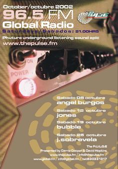 David Hopkins and Carrie Cooper. The Pulse Fm. www.thepulse.fm Global Radio Marbella.  Underground Dance music radio program live radio on the costa del sol. Featuring the best DJ´s from the Costa del Sol and around the World. Angel Burgos Jones Bubble Javi Sobrevela