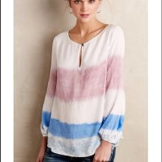 Holding horses dip dye blouse EUC super soft blouse by holding horses. Size M but would also work well for a S Anthropologie Tops
