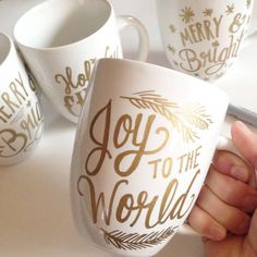 Cute customizable mugs made simpler. #DIY ☕️                                                                                                                                                                                 More