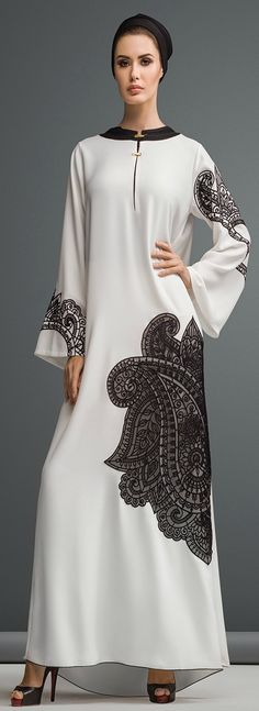 Appliqué and lased cut abaya collection for ladies in dubai style Abaya is considered as Muslim women wearing that is worn out over the dress to cover out Abaya Chic, Abaya Style, Hijab Abaya, Hijab Dress, Islamic Fashion, Muslim Fashion, Modest Fashion, Abaya Mode, Mode Hijab