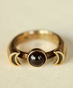 Bronze w/ Onyx Luna Ring