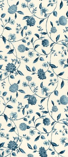 accent pillows? - Blue and white floral Waverly Nassau Vine Toile Porcelain Fabric $12.95 per yard