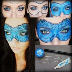 Masquerade Mask by Izabella M. Click the pic to see the makeup products she used. #mask #costume #makeuppictorial
