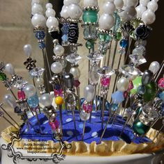 Stick Pin Tutorial - I don't know why or what for but I'm going to make these. Pammy